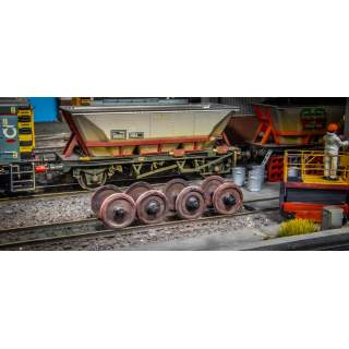 Detailed HAA Wagon Wheelset With Detailed Axleboxes (Includes Wooden Cradle)