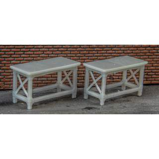 Detailed Metal-type Workshop Benches (Pack of 4)