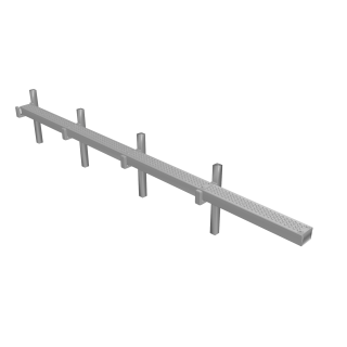 GRC Cable Trunking - 4 Raised Straight Sections