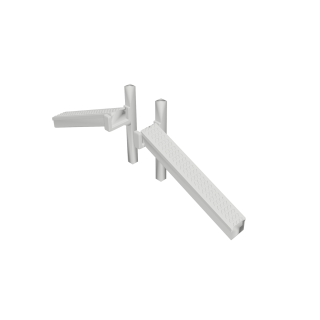 GRC Cable Trunking - 1 Pair of Raise & Lower Sections